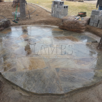 Flagstone Sitting Area with Dinner Table 10