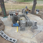 Flagstone Sitting Area with Dinner Table 11
