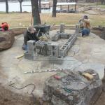 Flagstone Sitting Area with Dinner Table 12