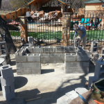 Flagstone Sitting Area with Dinner Table 13
