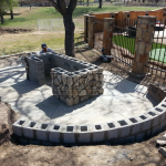 Flagstone Sitting Area with Dinner Table 15