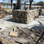 Flagstone Sitting Area with Dinner Table 16
