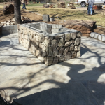 Flagstone Sitting Area with Dinner Table 17