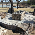 Flagstone Sitting Area with Dinner Table 18