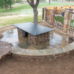 Flagstone Sitting Area with Dinner Table 20