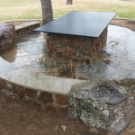 Flagstone Sitting Area with Dinner Table 22
