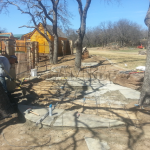 Flagstone Sitting Area with Dinner Table 4