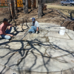 Flagstone Sitting Area with Dinner Table 5