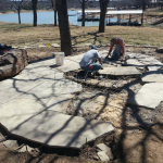 Flagstone Sitting Area with Dinner Table 6