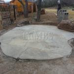 Flagstone Sitting Area with Dinner Table 7