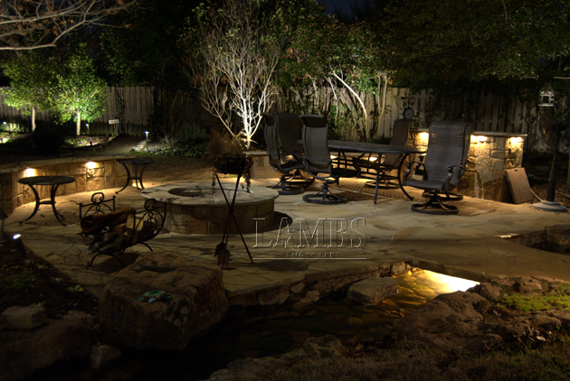 Stones Firepit at Night 2 630x