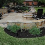 Stones Fire Pit Patio from Back Side