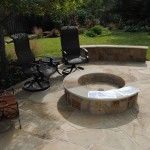 Stones Sitting area with Firepit